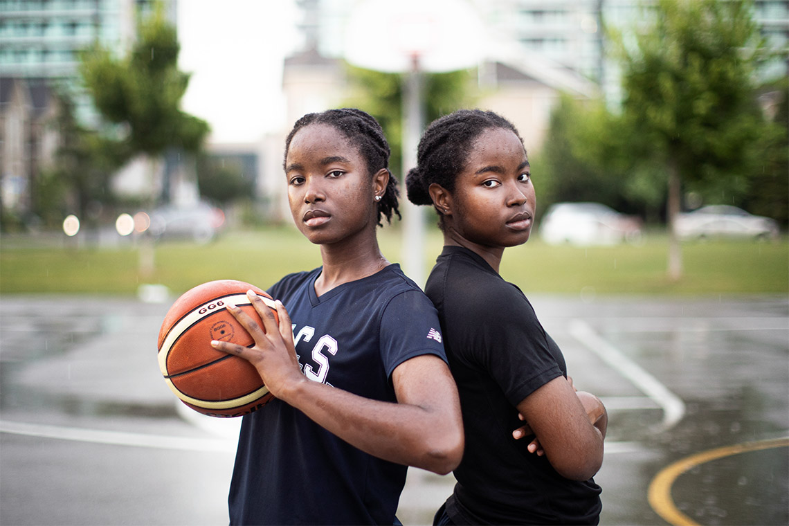 Sisters Mikhaela (right) and Nakeisha Ekwandja