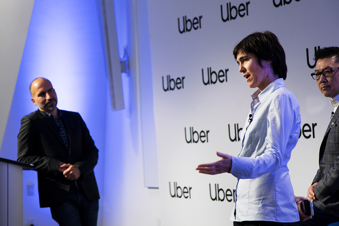 Photo of Uber CEO with Raquel Urtasun