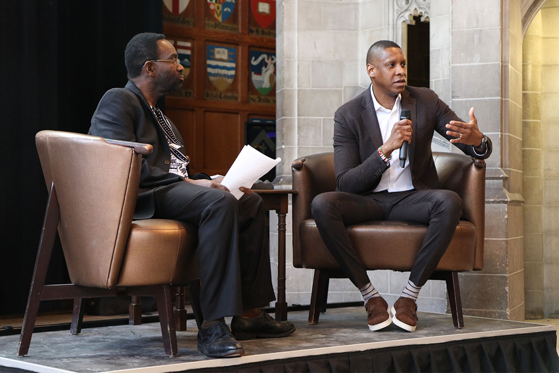 Photo of Masai Ujiri on stage