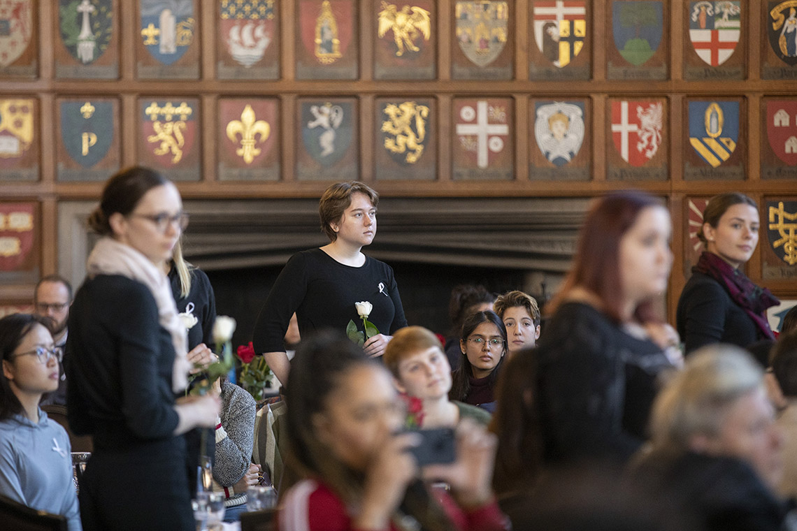 View inside Hart House on the National Day of Remembrance 2019