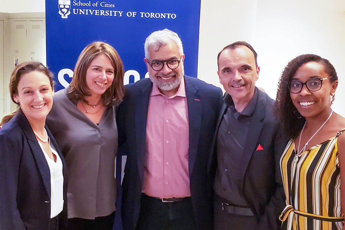 From left to right: Lara Muldoon, Shauna Brail, Nouman Ashraf, Daniele Zanotti, Nakia Lee-Foon