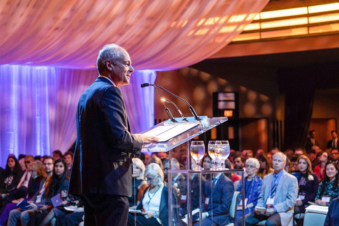 Meric Gertler speaks at the arbor awards