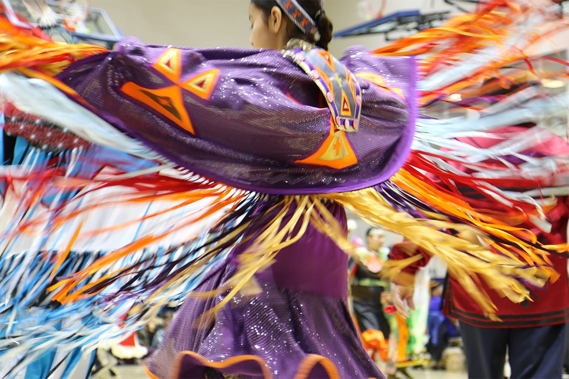 Photo of powwow dancer