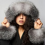 photo of woman wearing Arctic Trim furs