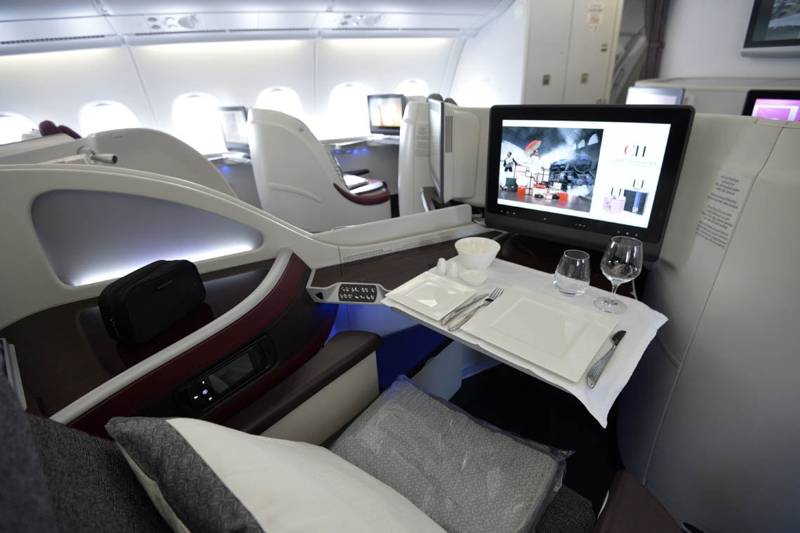 a first-class air cabin