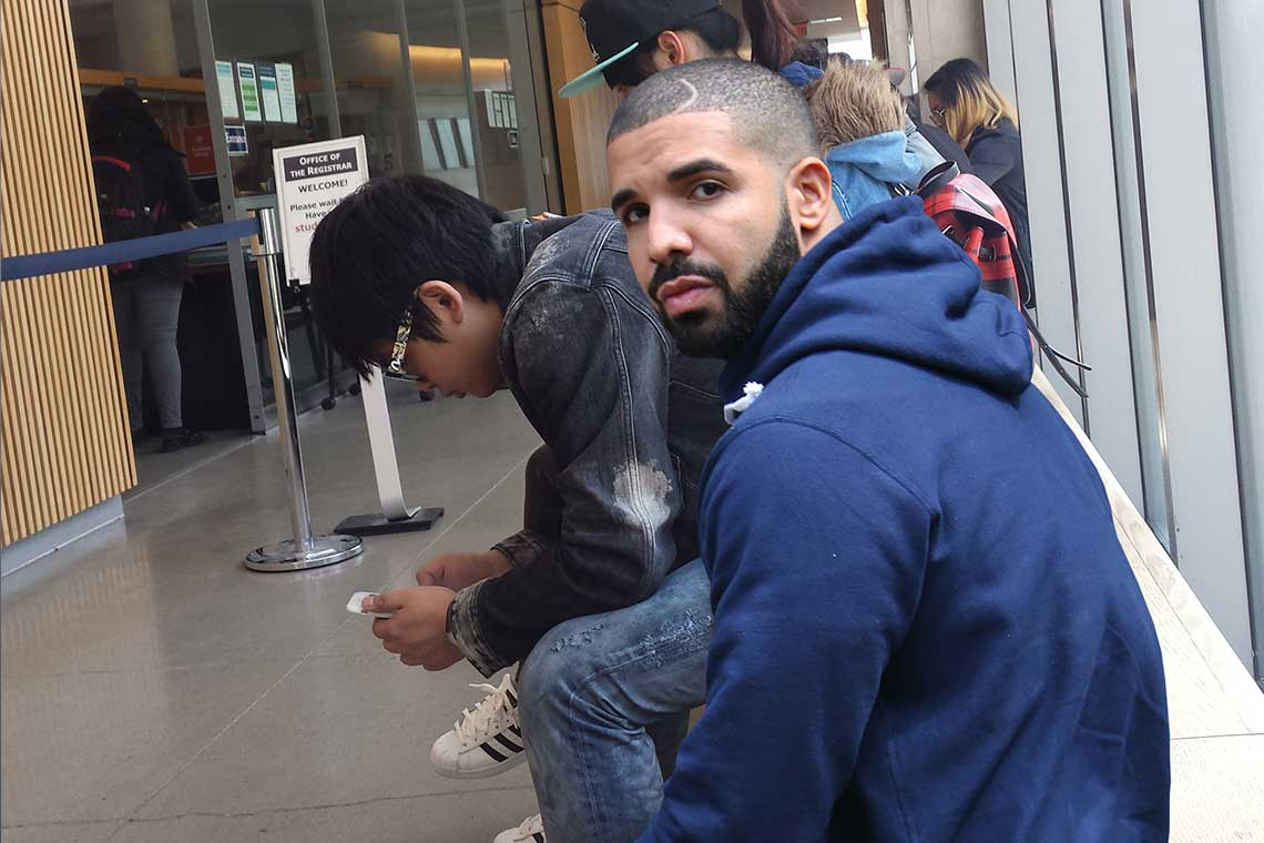 photo of an Instagram @UofT Drizzy image
