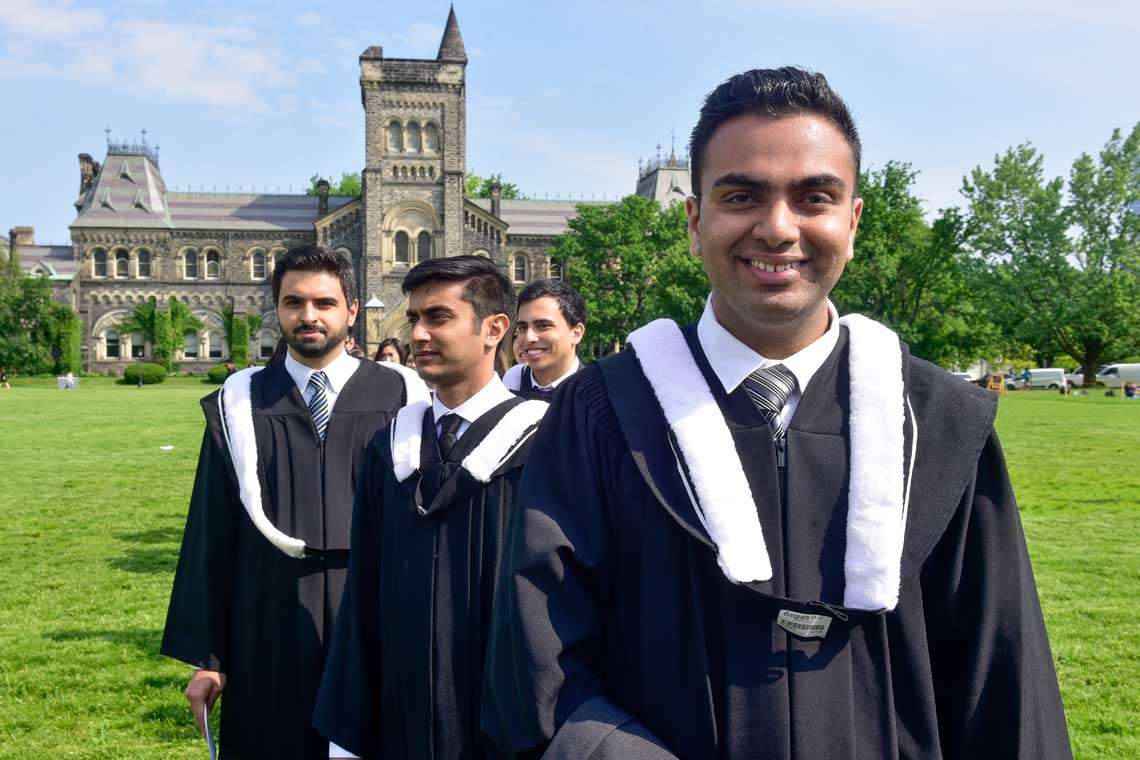 photo of Patel in procession towards Convocation Hall