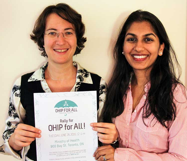 photo of the two doctors, Michaela and Ritika