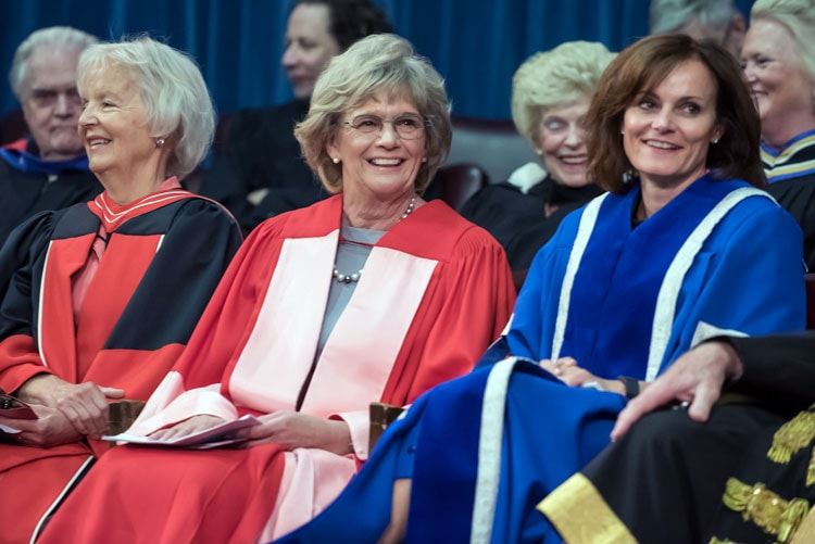photo of Professor Janet Paterson, Linda Schuyler and Judy Goldring