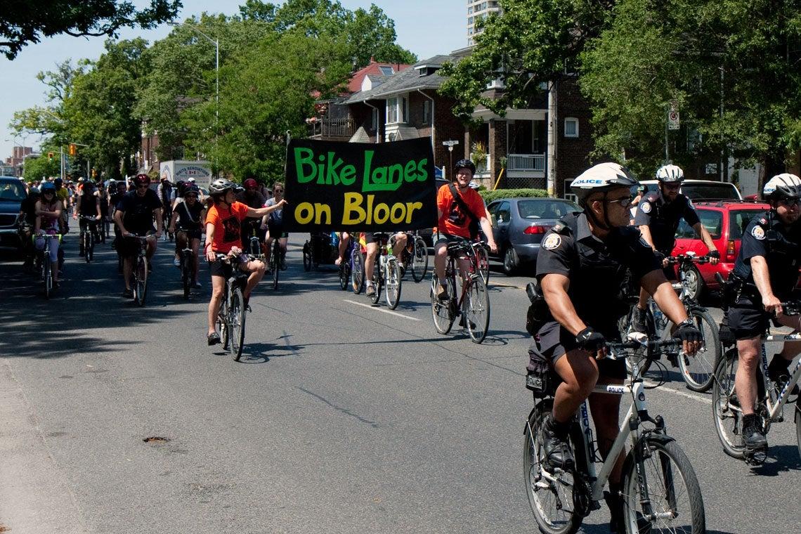 photo of bikes on bloor