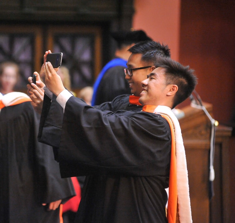 photo of student taking selfie