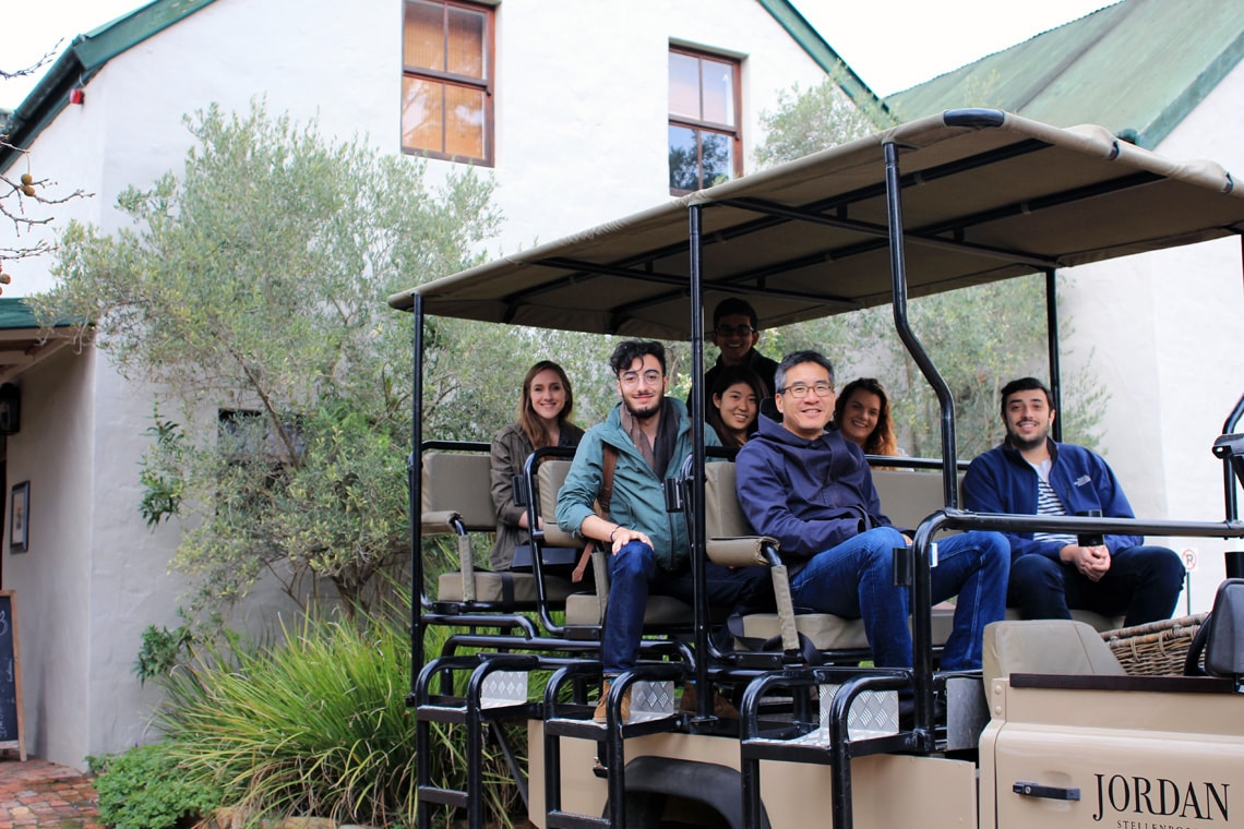 photo of professor and students in South Africa