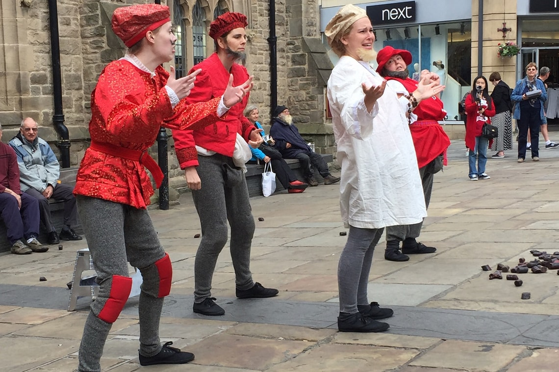 Photo of performance Mankind at Durham Town Square