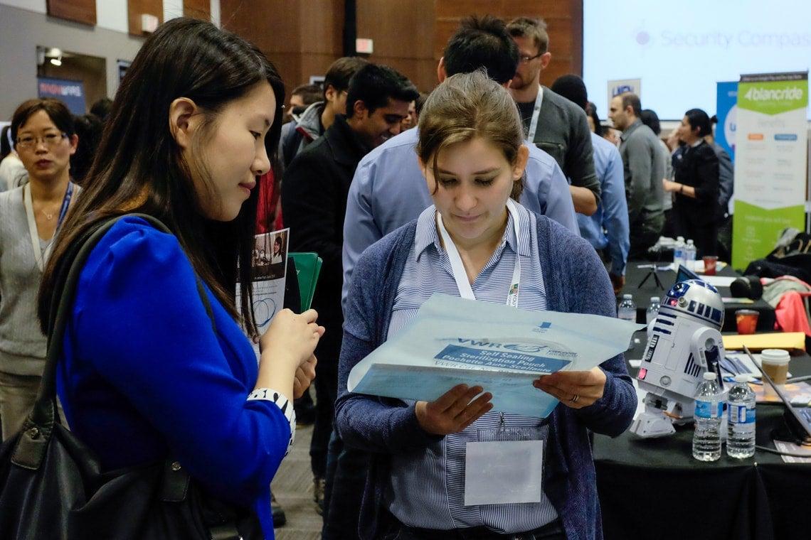 Photo of students at career tech fair
