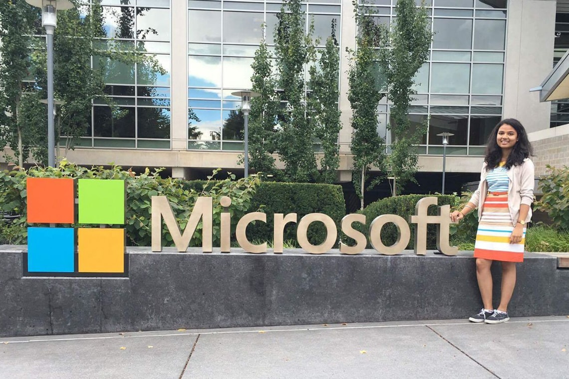 Photo of Ankita Sengal at Microsoft headquarters