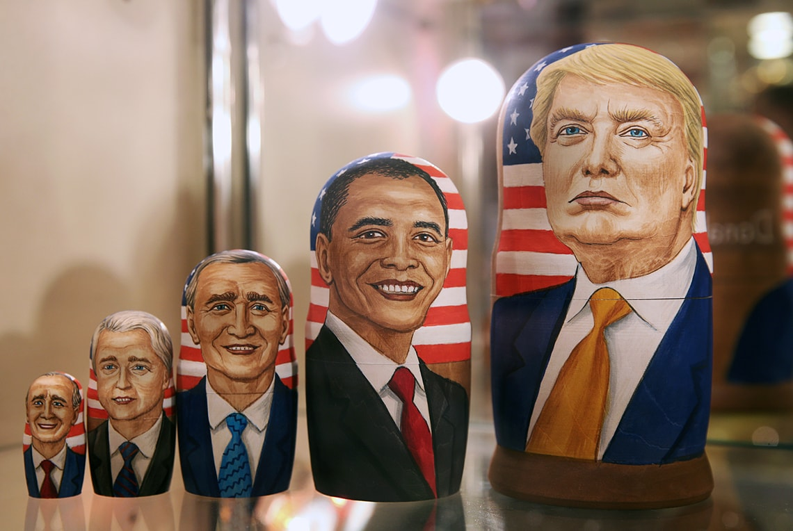 Photo of Russian dolls of U.S. presidents