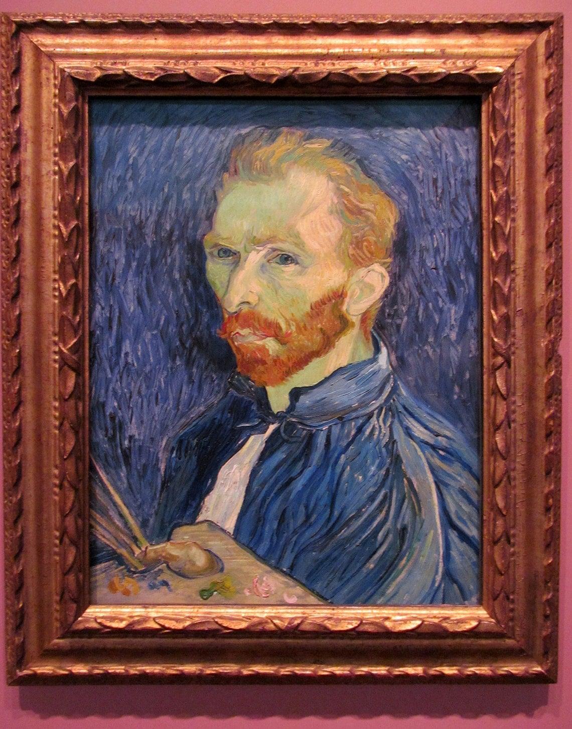 Photo of Vincent Van Gogh's self portrait