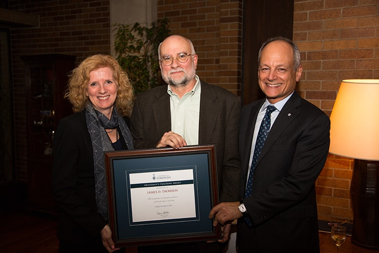 photo of president and provost with Thomson