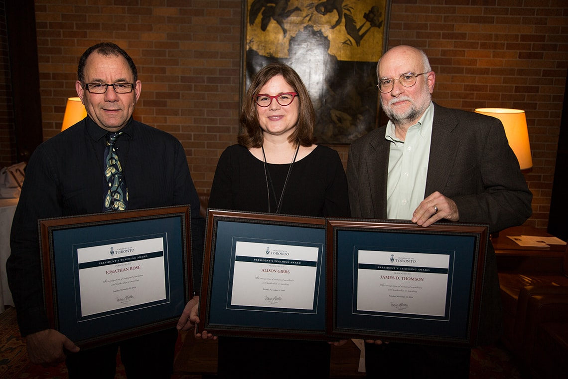 Photo of 2016 President's Teaching Award recipients