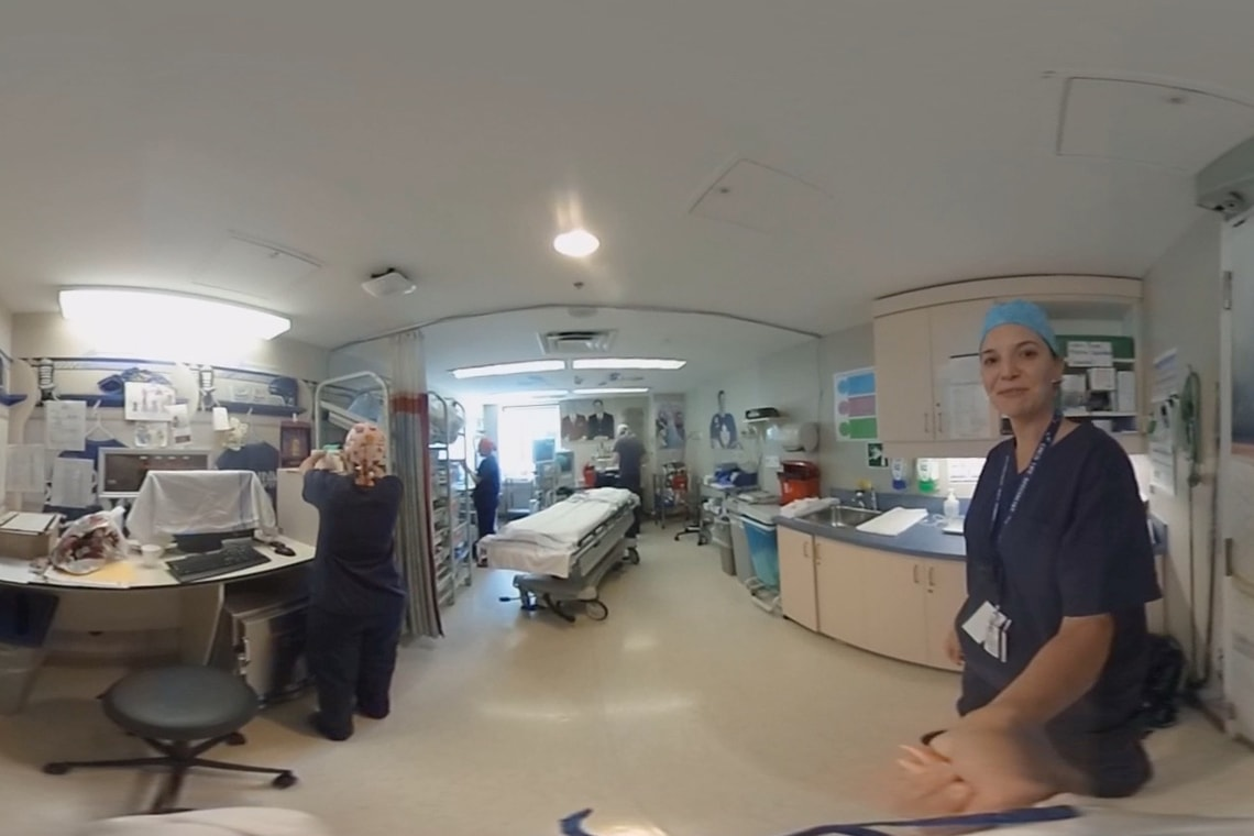 Photo from virtual reality technology at SickKids