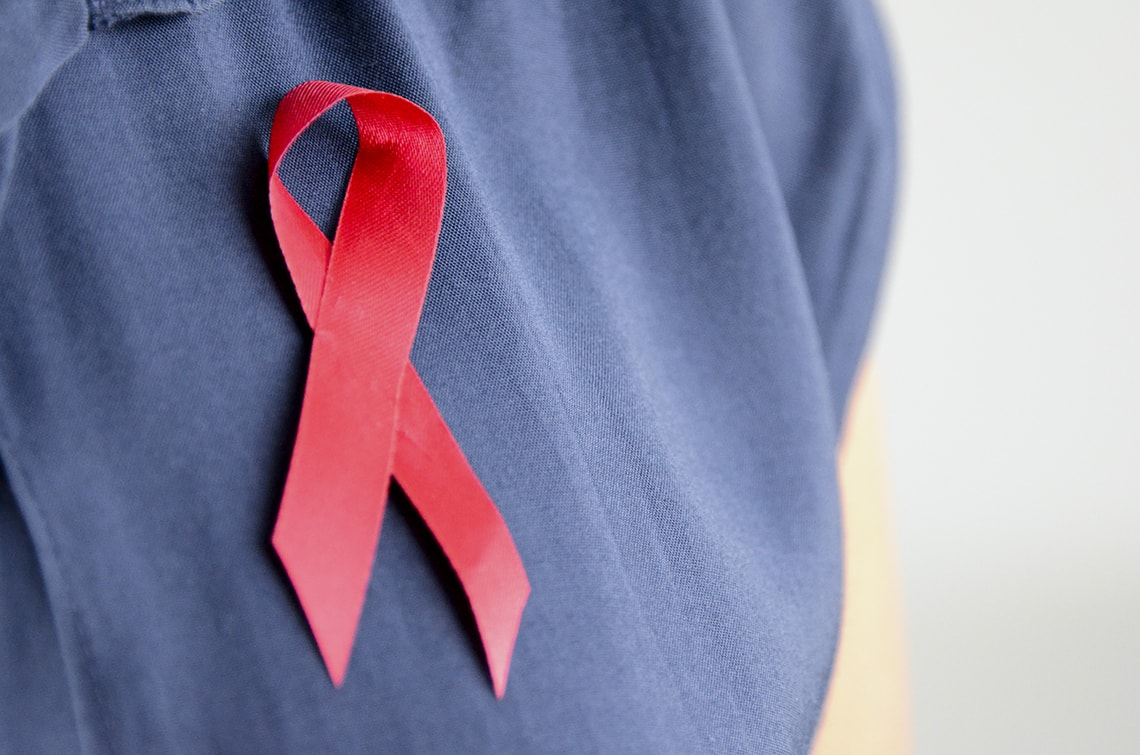 Photo of red ribbon for World AIDS Day