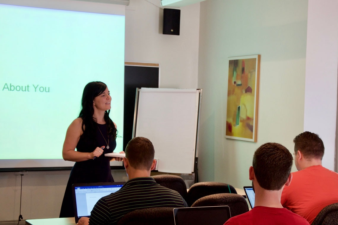 Photo of Dionne Pohler teaching