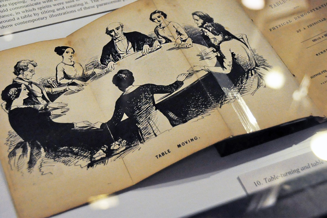 Photo from book showing seance