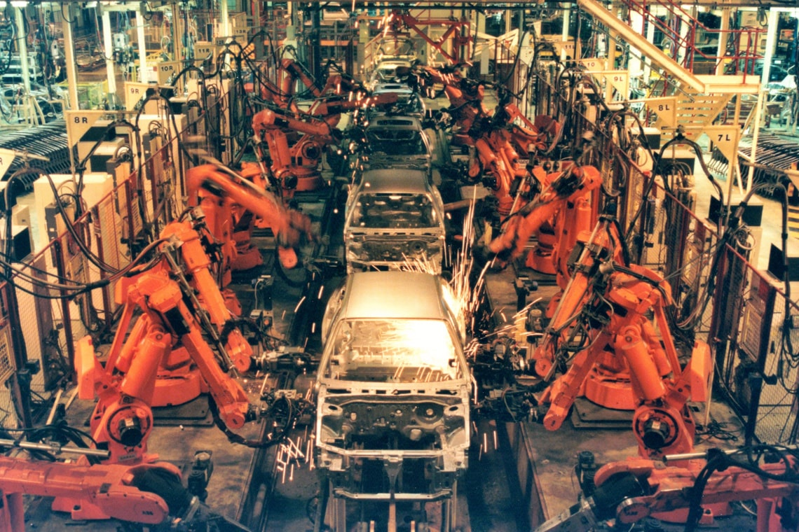 photo of car factory