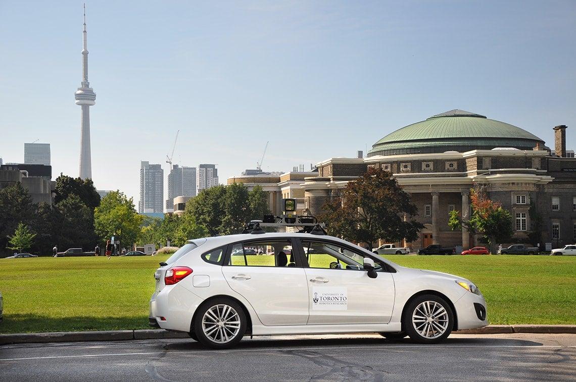 self-driving electric car
