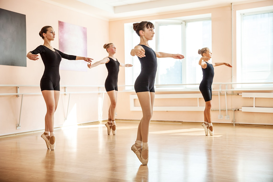 photo of white students in ballet