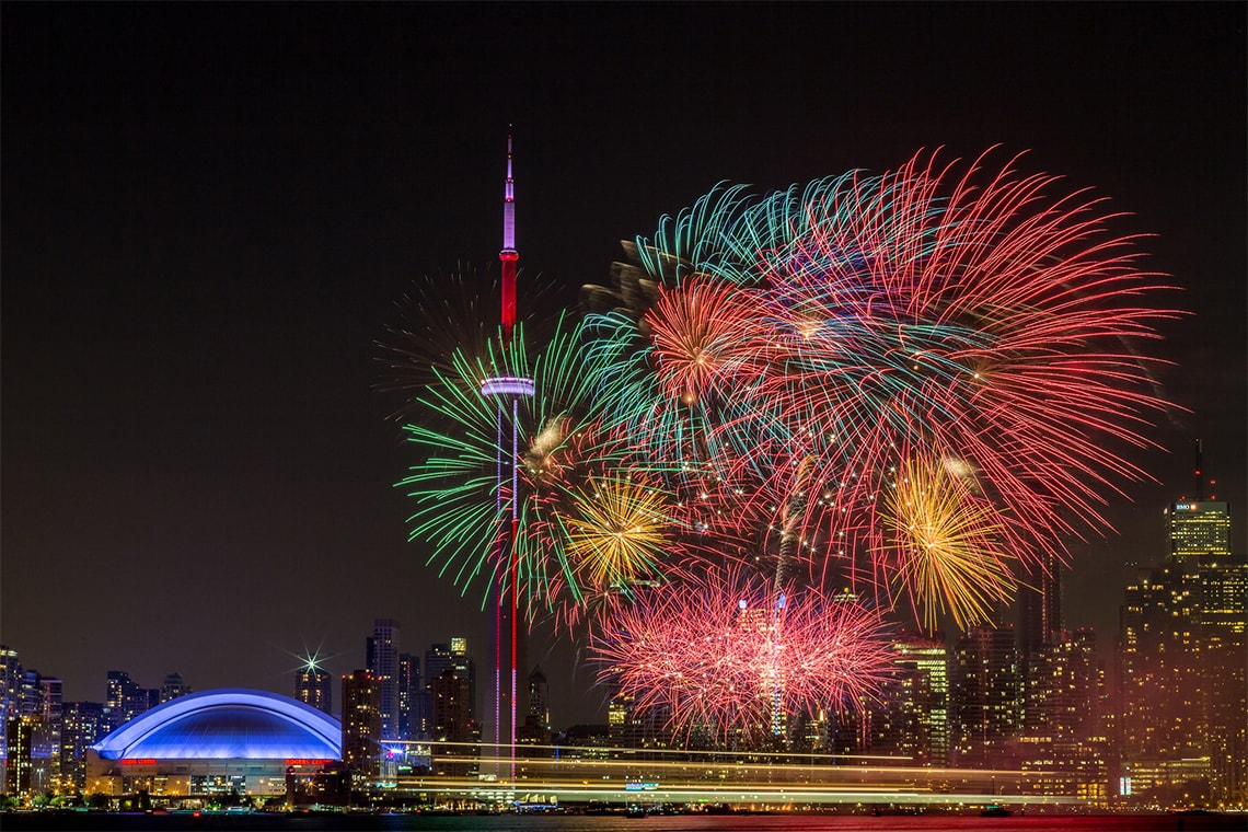 Canada Day Fireworks in Toronto