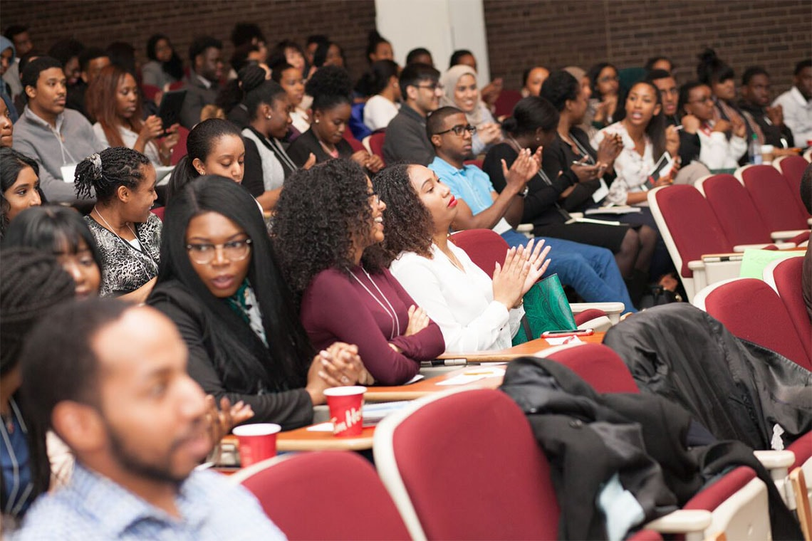 Black students at U of T attend faculty of medicine event