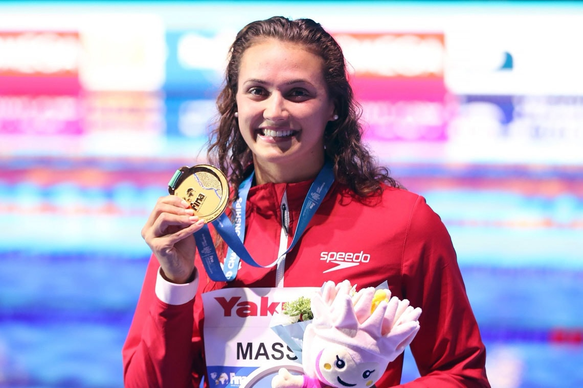 photo of Masse with gold medal