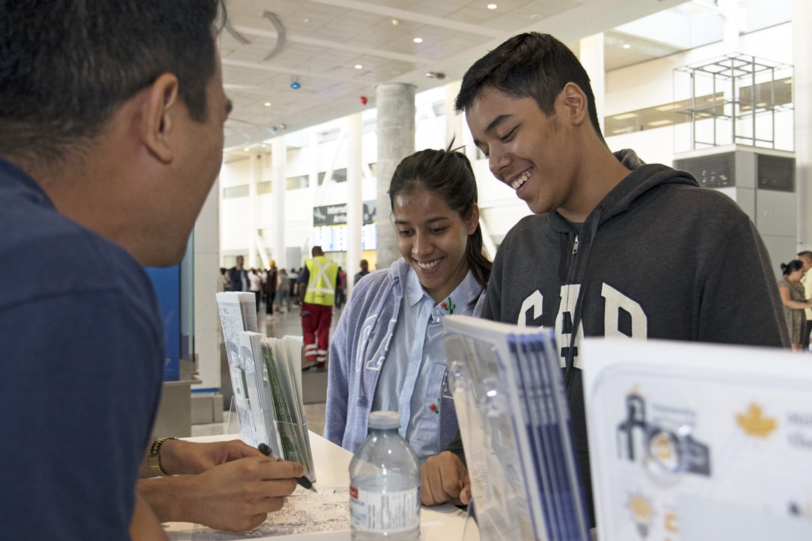 International students arrive at Pearson