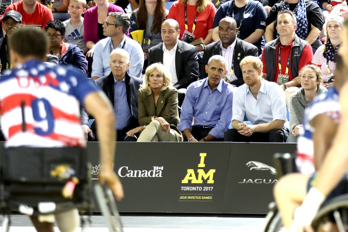 Obama Biden & Prince Harry at the Invictus Games at U of T Scarborough