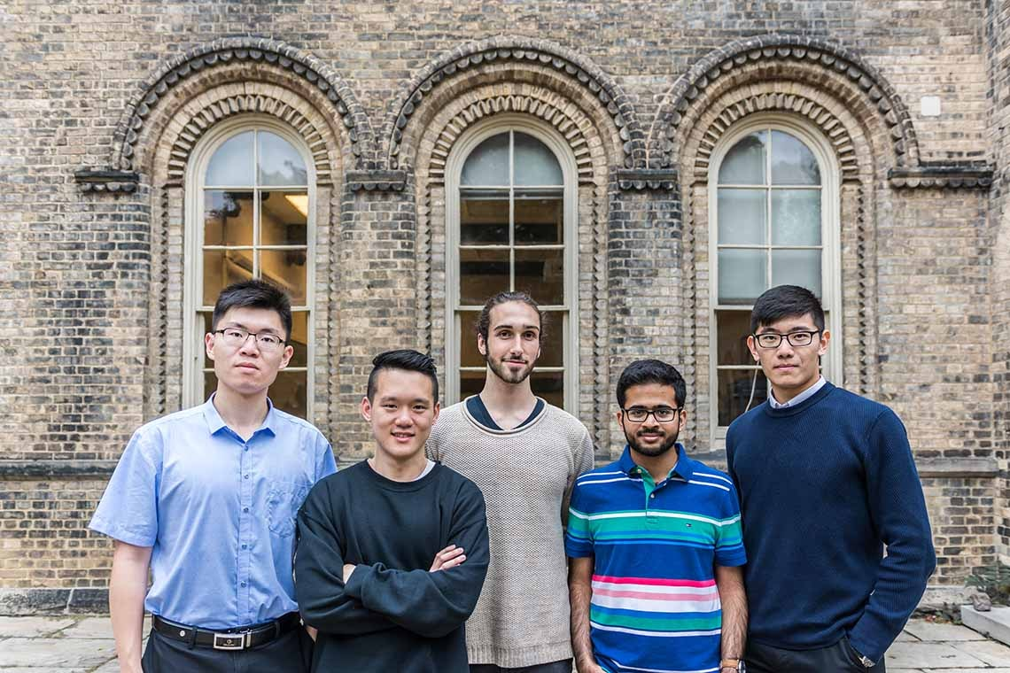Photo of undergraduate codebreakers