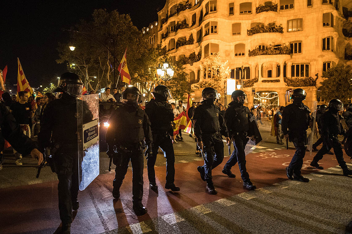 Photo of Catalan riot officers