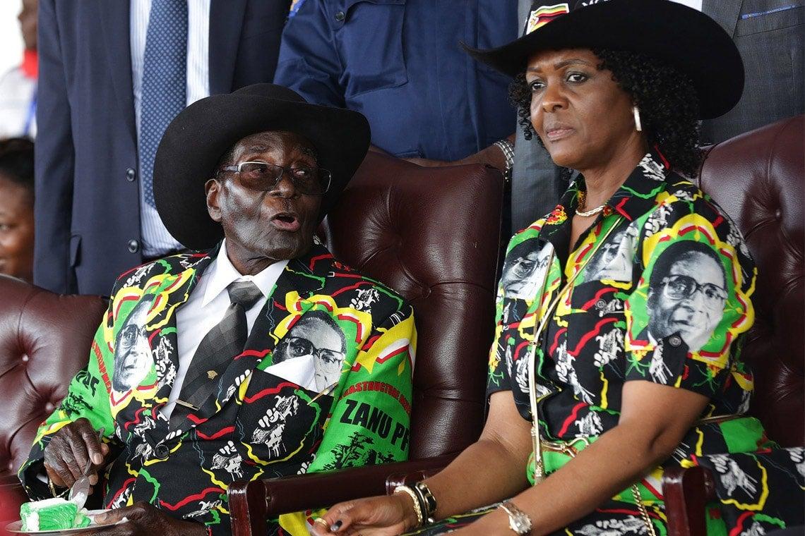 Photo of Robert Mugabe and Grace Mugabe