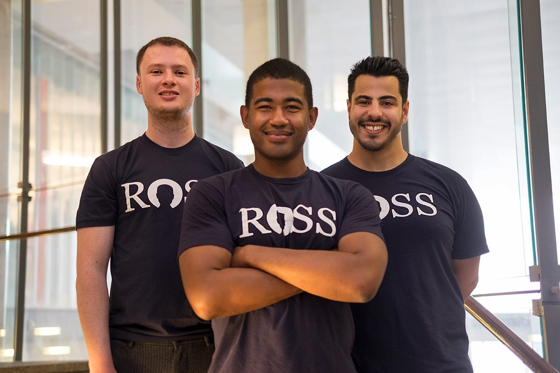 Photo of ROSS Intelligence co-founders