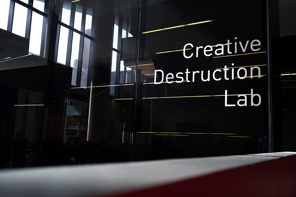 Photo of Creative Destruction Lab sign
