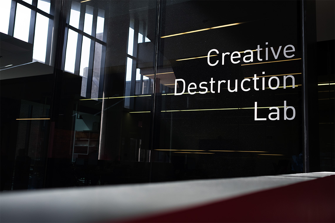 Photo of the Creative Destruction Lab sign