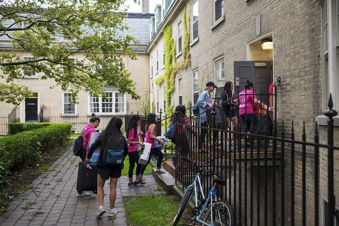 Students moving into Sir Daniel Wilson at University College