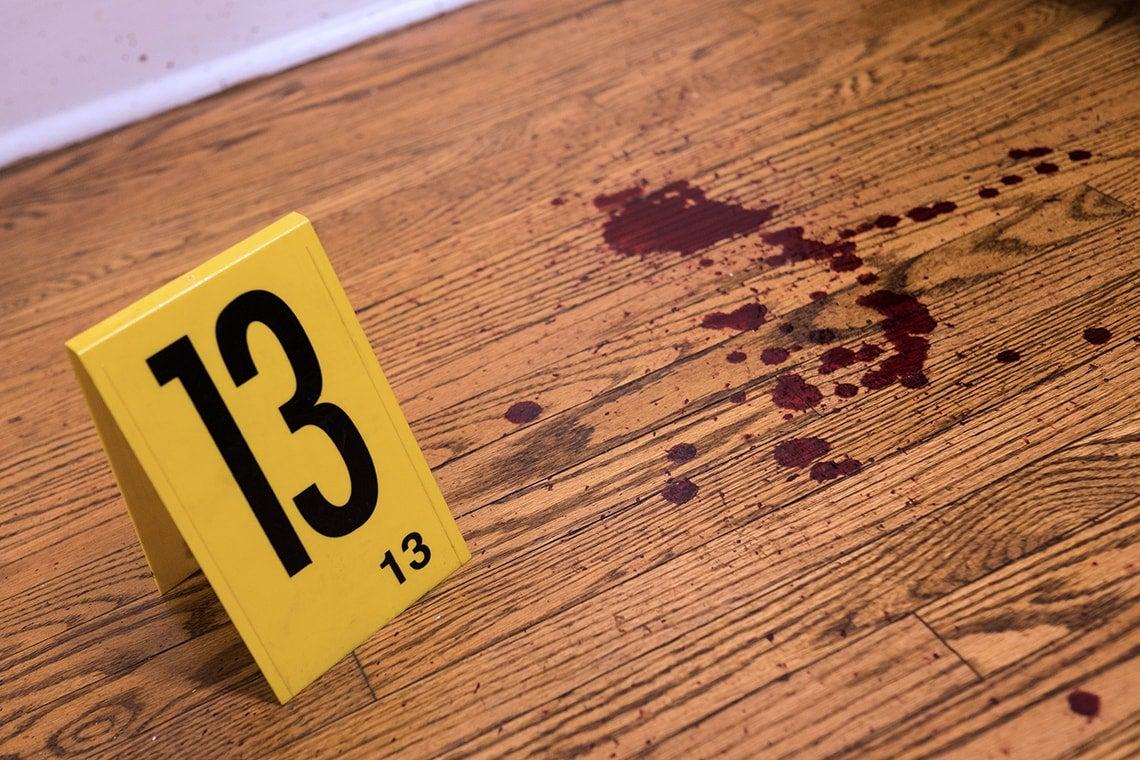 Crime scene clue marker