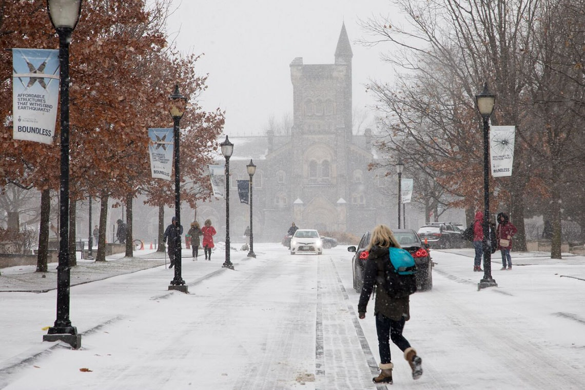 Photo of U of T in winter