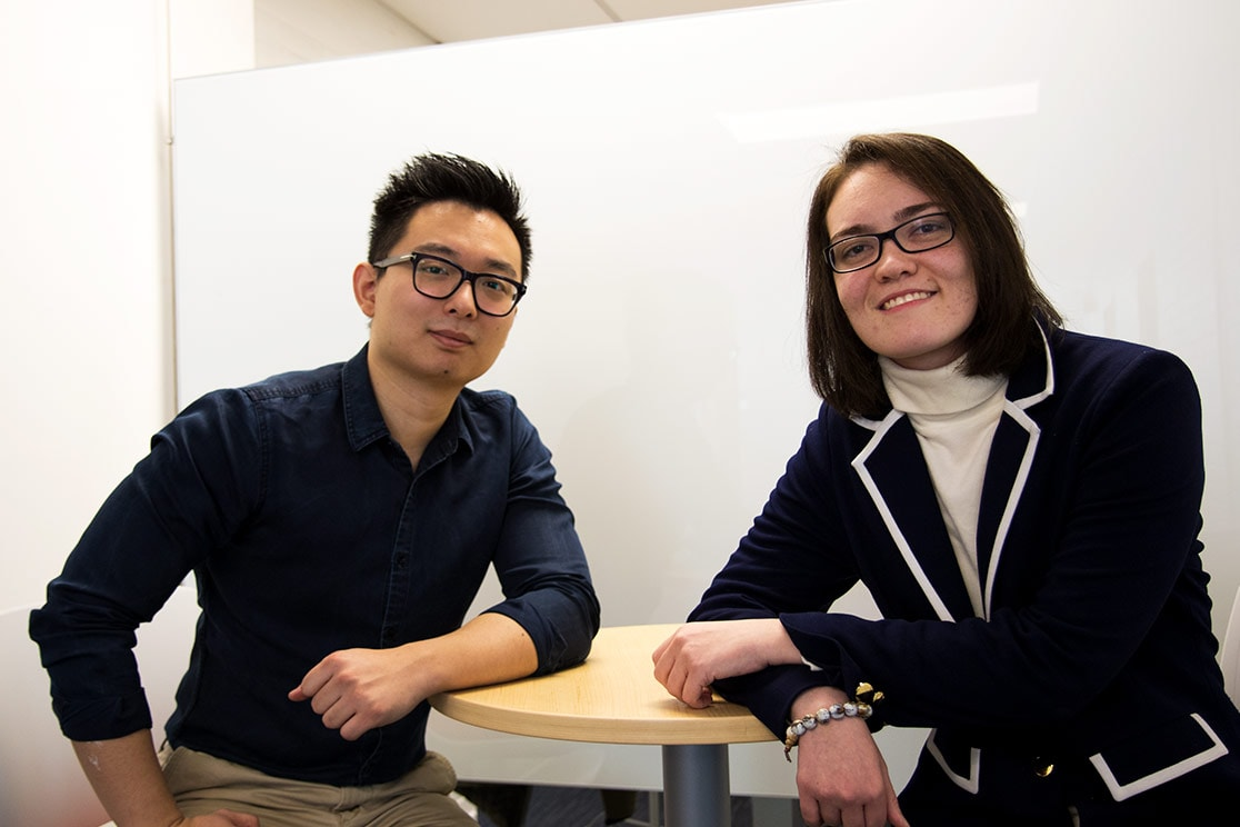Photo of Daniel Zhang and Carolina Gomes