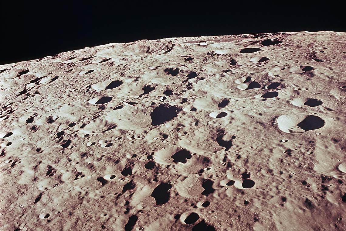 Photo of moon craters