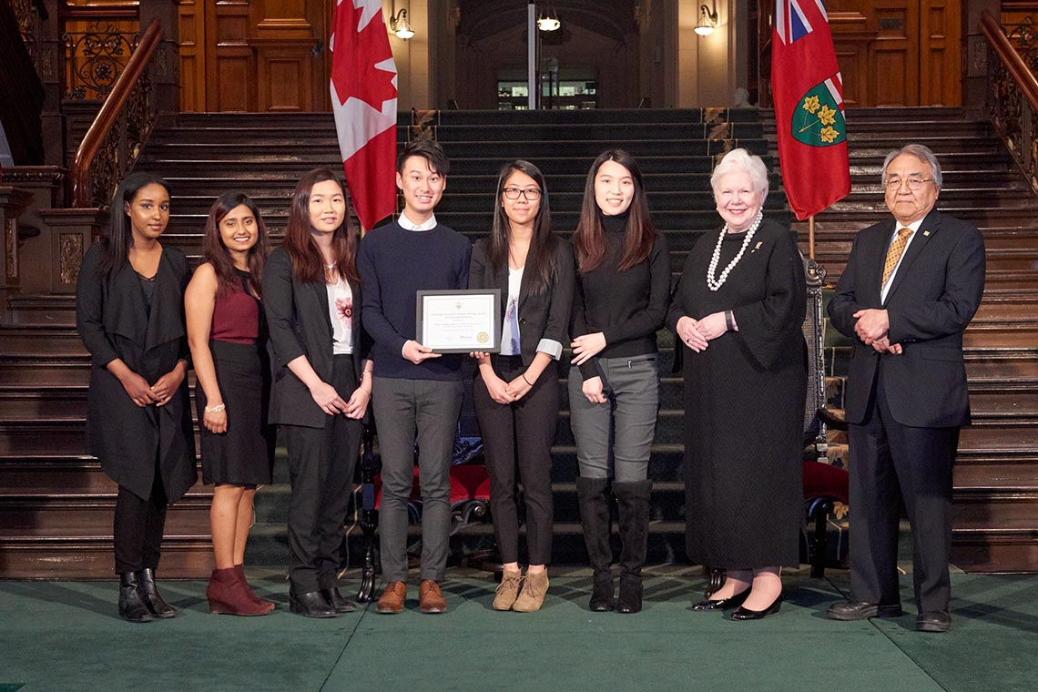 Photo of Scarborough class receiving award