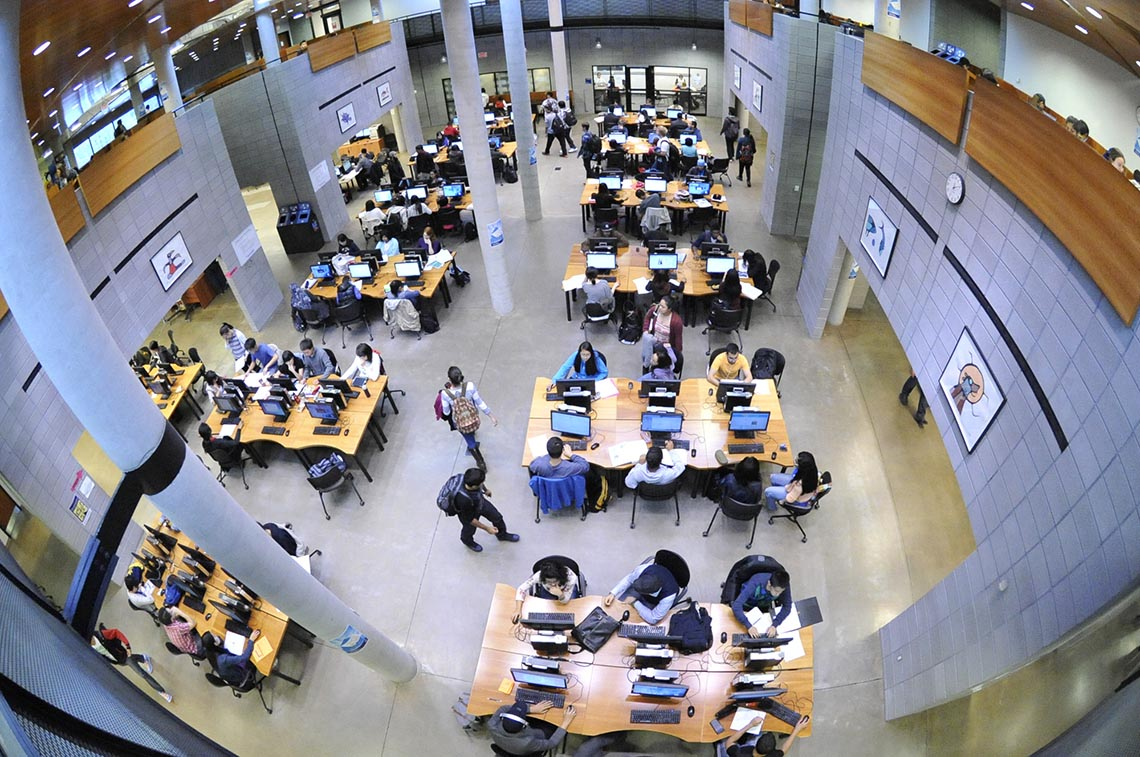 Photo of students at U of T Scarborough library