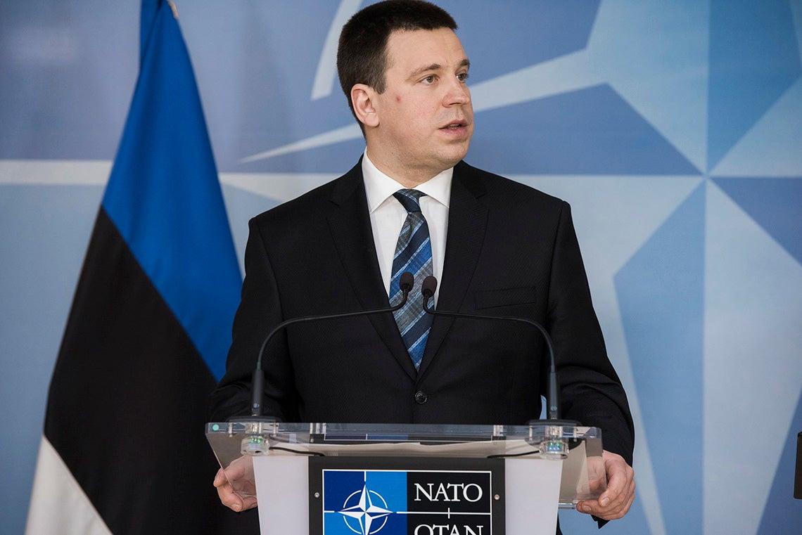 Photo of Estonia's prime minister