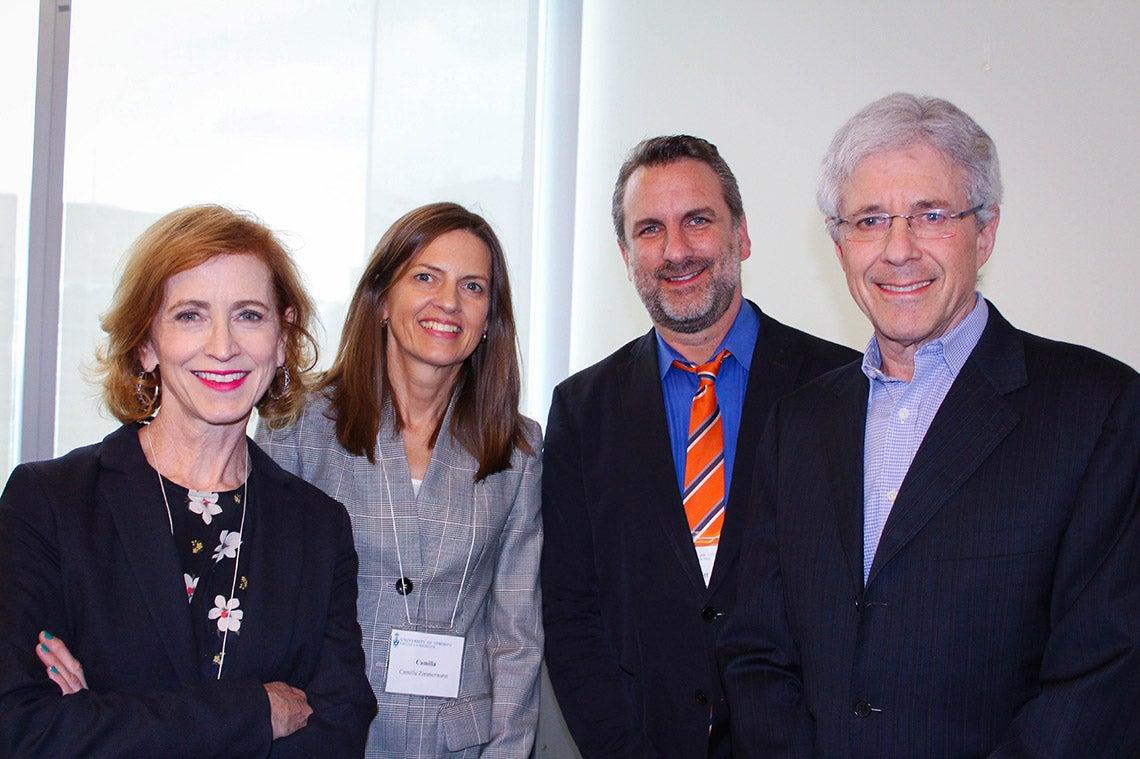 Photo of speakers at Medicine event